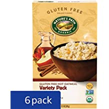 Nature's Path Organic Gluten-Free Instant Hot Oatmeal, Variety Pack, 11.3 Ounce (Pack of 6)