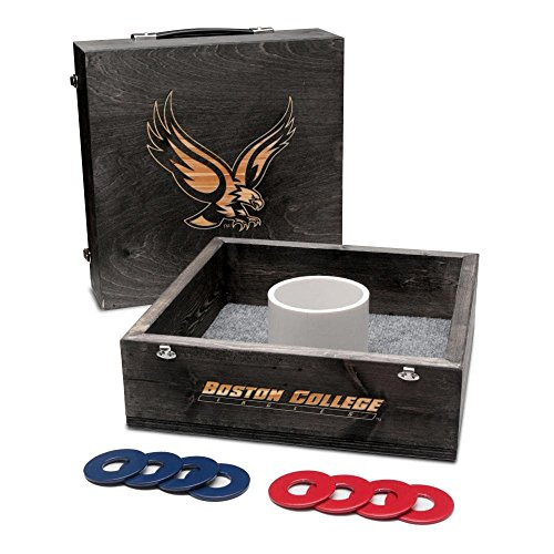 Victory Tailgate Boston College Eagles Washer Game Set Onyx Stained College Washer Toss Game