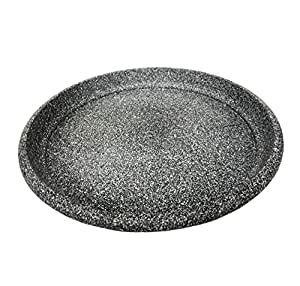 Round Plastic Saucer shaped Grey Resin Colour