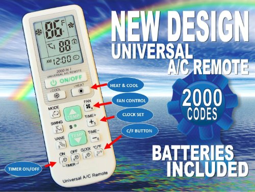 Universal A C Remote Replacement Remote Control With 2000