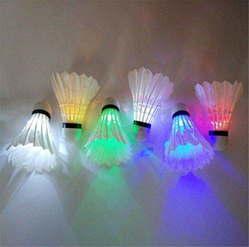 4Pcs Colorful LED Shuttlecock Badminton - 7