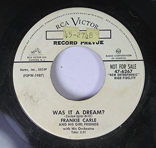 Frankie Carle And His Girl Friends 45 RPM Was It A Dream? / The Golden Touch