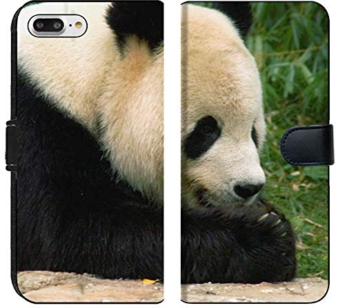 Luxlady iPhone 7 Plus Flip Fabric Wallet Case Giant Panda 2 National Zoo in Washington Image ID 237180 ()