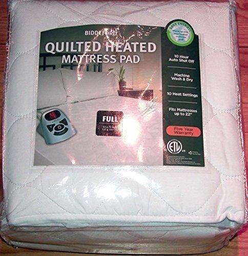 Biddeford Heated Quilted Mattress Pad - Full