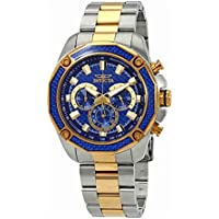 Invicta Men's 25975 Aviator Quartz Chronograph Blue Dial Watch