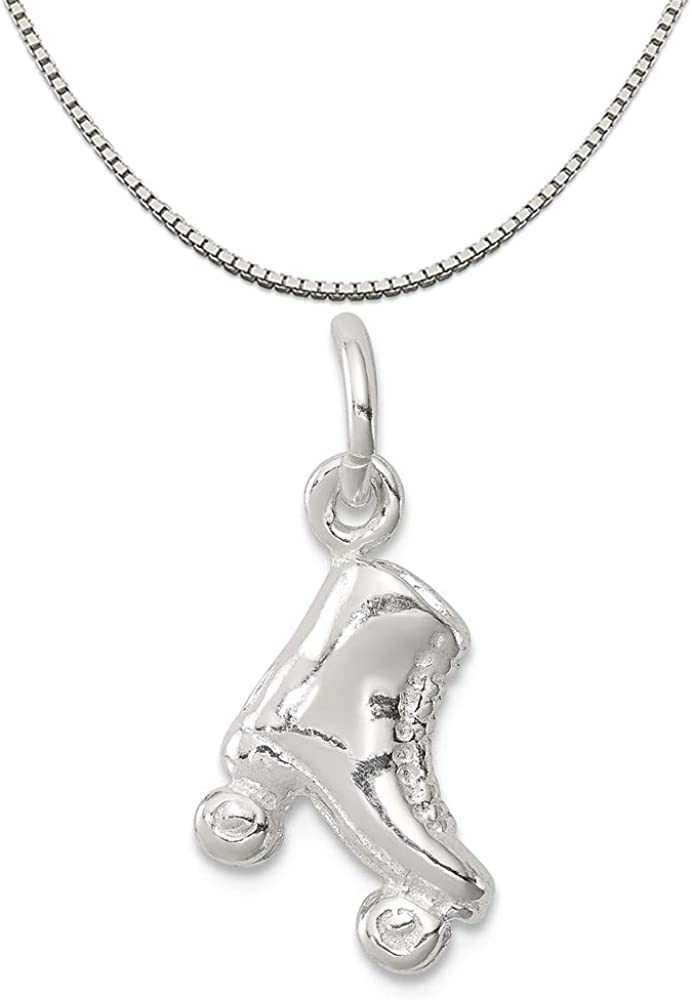 16-20 Mireval Sterling Silver Love Charm on a Sterling Silver Chain Necklace