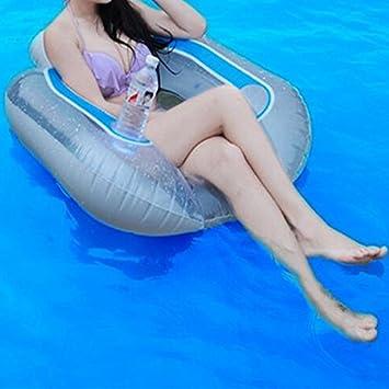 Piscina inflable cama de flotador de adultos Natación Aprendizaje Anillo de seguridad Agua para Nadar (color: al azar): Amazon.es: Deportes y aire libre