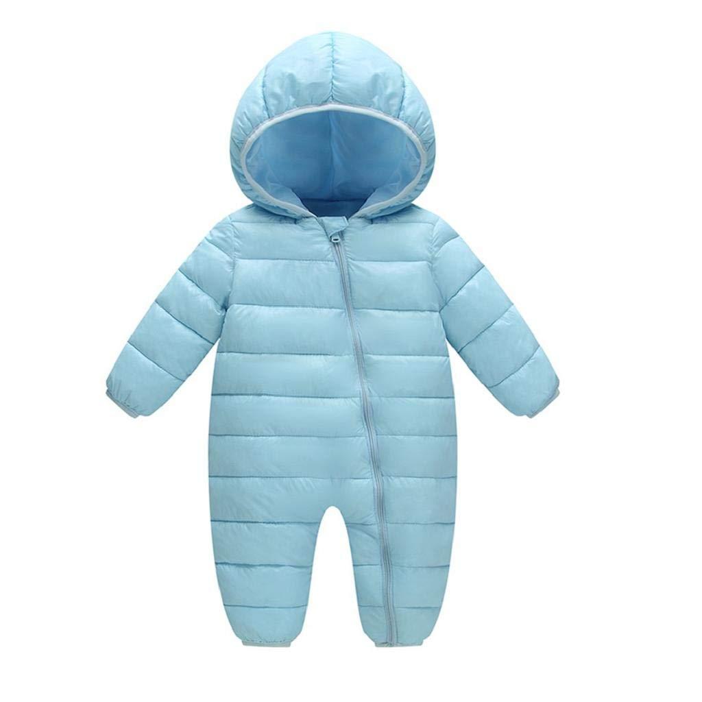 VICGREY ❤ Bambino Pagliaccetto Neonato Invernale con Cappuccio Tuta da Neve Tutine Addensare Jumpsuit Outfits Bambini Caldo Giacca con Cappuccio Autunno Inverno