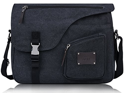Messenger Bag, Coofit Canvas Unisex Cross-body Bags Shoulder Laptop Bags Crossbody Messenger (Dig Laptop Messenger)