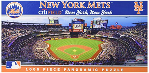 New York Mets Game (MasterPieces MLB New York Mets Stadium Panoramic Jigsaw Puzzle, 1000-Piece)