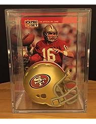 San Francisco 49ers NFL Helmet Shadowbox w/ Joe Montana card