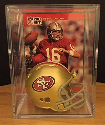 San Francisco 49ers NFL Helmet Shadowbox w/ Joe Montana (Joe Montana Official Football)
