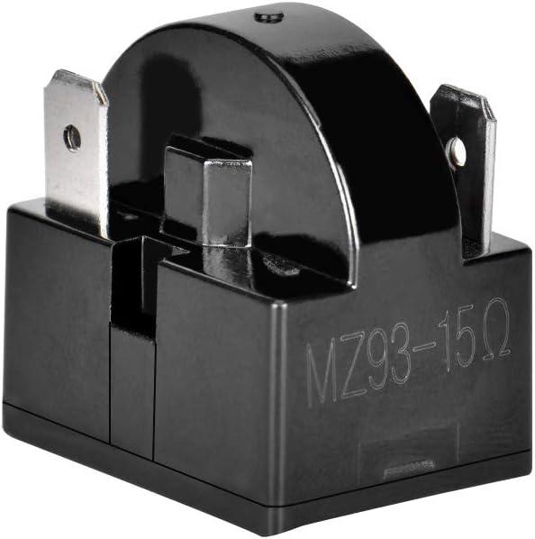 Wuudi Starter Relais Qp2 15 G Kunststoff Shell Single Pin Kühlschrank Ptc Starter Relais 15 Ohm Auto