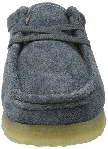 Slate de Mujer para Cordones Zapatos Wallabee Suede Derby Clarks Azul qxgBF8wW