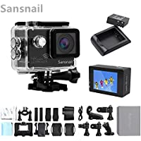 ItsCamera SJ8000 Sports DV camera 4K 24fps NOVATEK NT96660 Gyro WiFi 2 inch LCD screen waterproof Action helmet Camera(Black)