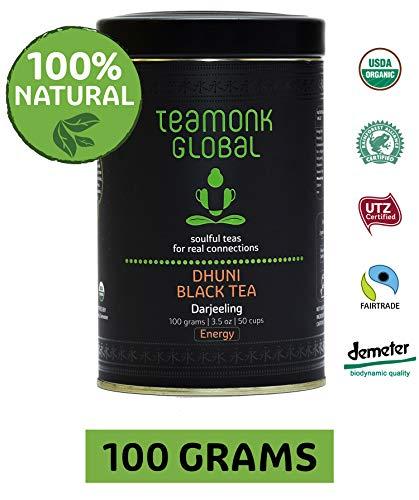 (Darjeeling Organic Black Tea - Dhuni, 3.5oz (50 Cups) | 100% Natural Whole Loose Leaf Tea from Himalayas | No Additives)