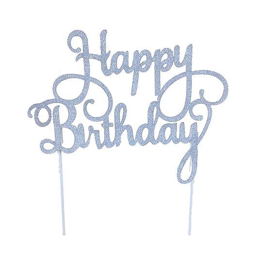 Ogquaton Topper de Pastel cumpleaños Feliz Topper de ...