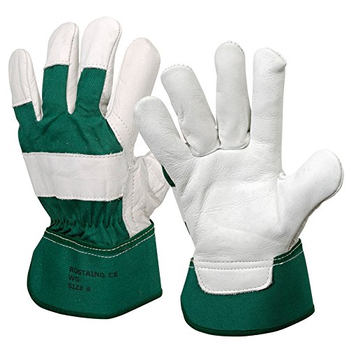 Rostaing manutention Gants Docker, Blanc/Vert, 27,5 x 14 x 1 cm WG/IT09