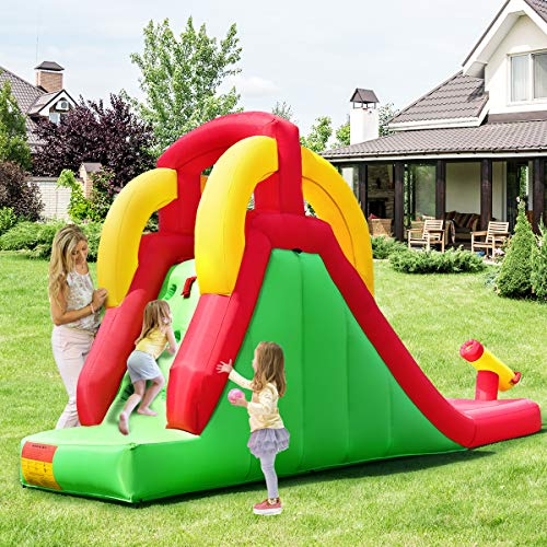 Costzon Inflatable Water Slide, Climb and Slide Bouncer for Kids Without Blower by Costzon (Image #7)