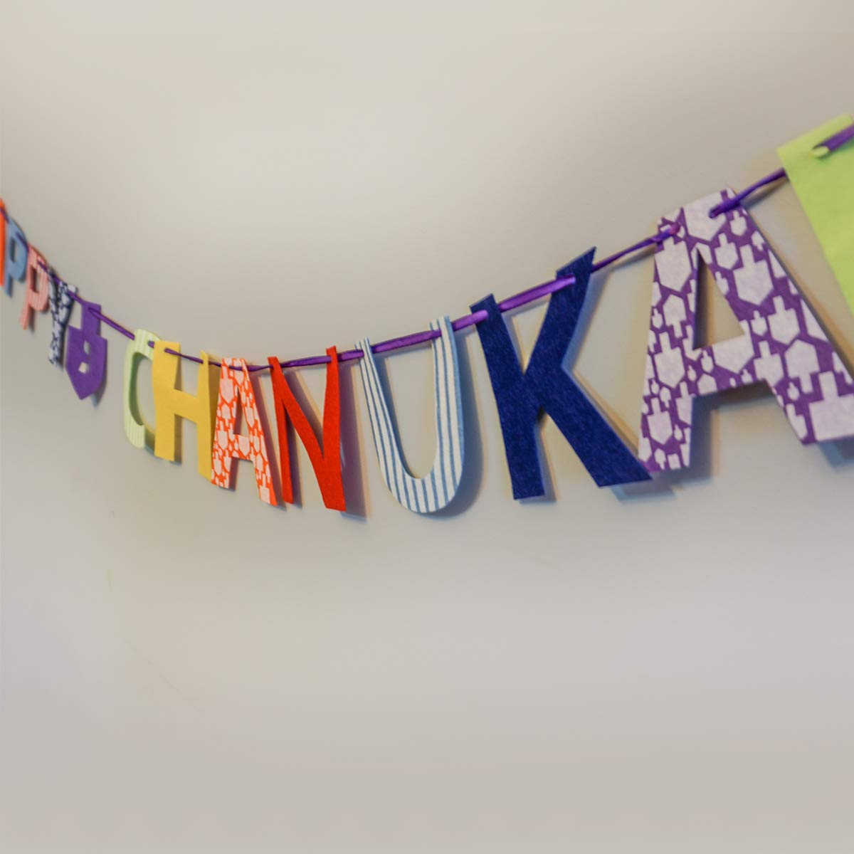 Create your Own felt Bunting for Chanukah and learn to write Happy Chanukah Chanukah Felt Bunting