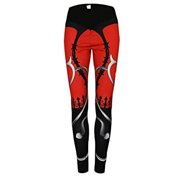 Leggings Mujer Pantalones Yoga, Mujer verano rojo negro ...