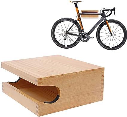 JXS para Bicicleta de la repisa de Pared - Hecho De Hecho a Mano de Madera de Pino - Estante de la Bici Gancho de Almacenamiento de Titular de Almacenamiento Cubierta: Amazon.es: