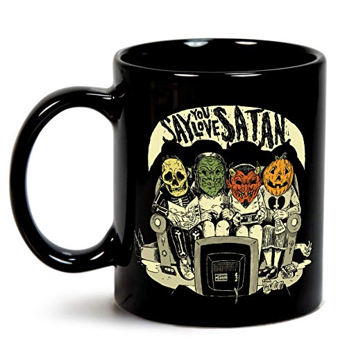Say You Love Satan 80s Horror Podcast Logo Mug