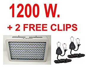 1200W Z-BANZ Adjustable Height Indoor LED Full Spectrum Grow Light with UV + IR Chips for Greenhouse / Hydroponics Plants