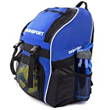 Soccer Backpack / Basketball Backpack - Youth Kids Ages 6 and Up - by DashSport - All Sports Bag Gym Tote Soccer Futbol Basketball Football Volleyball