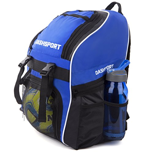 Soccer Bag (Soccer Backpack / Basketball Backpack - Youth Kids Ages 6 and Up - by DashSport - All Sports Bag Gym Tote Soccer Futbol Basketball Football Volleyball)