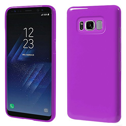 Galaxy S8 Jelly Case, ANLEY Candy Fusion Series - [Shock Absorption] Classic Jelly Silicone Case Soft Cover for Samsung Galaxy S8 (Royal Purple) + Free Ultra Clear Screen - Case Jelly