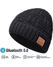EVERSEE Bluetooth Beanie Hat, 5.0 Bluetooth Hat, Inalámbrico Auricular Gorro con estéreo HD y Mic Incorporado, Sombrero Lavable para Correr para Hombres Regalos, Hombres/Mujeres