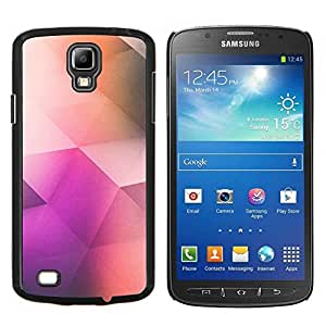TECHCASE---Cubierta de la caja de protección para la piel dura ** Samsung Galaxy S4 Active i9295 ** --patrón de polígono arte poli de color púrpura