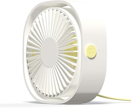 Simpeak Ventilador Mini USB Silencioso de 3 Velocidades Mini Fan, 360 Grados Rotation Portátilpara Biblioteca, Oficina, Camping, Picnic, Excursiones(Blanco): Amazon.com.mx: Hogar y Cocina