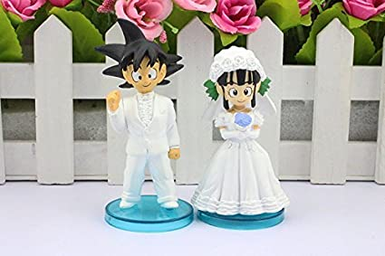 Buy Dragon Ball Z 2pcs/set Goku Chichi Wedding Figure Toys Online at ...