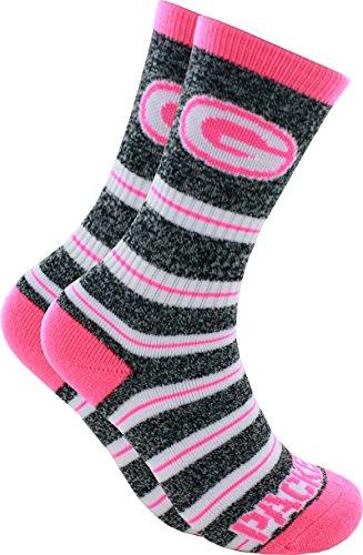 For Bare Feet Green Bay Packers Melange Stripe Socks, Medium (6-11)