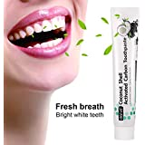 Teeth Whitening Toothpaste, ZUTOBO Natural Activated Bamboo Charcoal Toothpaste, Fresh Mint Toothpaste Protecting Deep Clean Teeth, Whiter and Healthier Teeth to Remove Bad Breath Stains 120g(White)