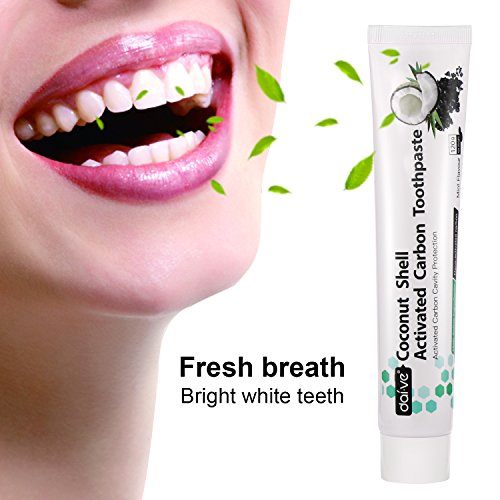 (Teeth Whitening Toothpaste, ZUTOBO Natural Activated Bamboo Charcoal Toothpaste, Fresh Mint Toothpaste Protecting Deep Clean Teeth, Whiter and Healthier Teeth to Remove Bad Breath Stains 120g(White))
