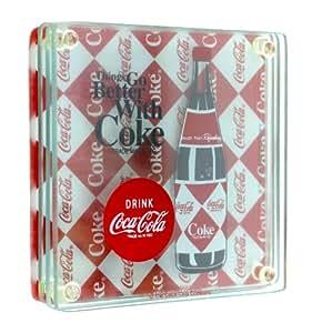 In the Groove Glass Coca-Cola Coaster Set