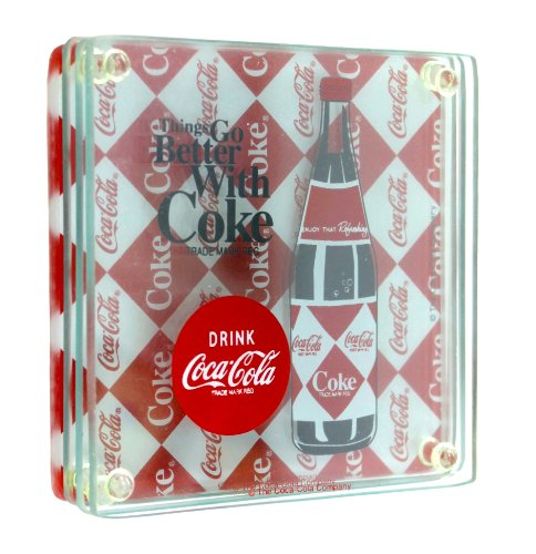 Groove Glass Coca Cola Coaster Set
