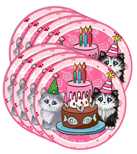 Kitty Cat Pink Kitten Birthday Party Supplies Set Plates Napkins Cups Tableware Kit For 16 By