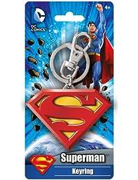 Colored Superman Logo Pewter Key Ring