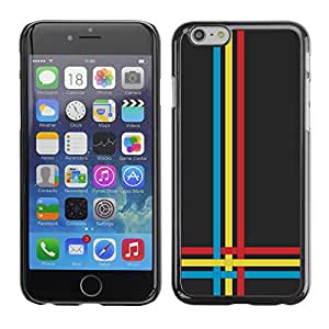 All Phone Most Case / Oferta Especial Duro Teléfono Inteligente PC Cáscara Funda Cubierta de proteccion Caso / Hard Case Apple Iphone 6 Plus 5.5 // Blue Yellow Red