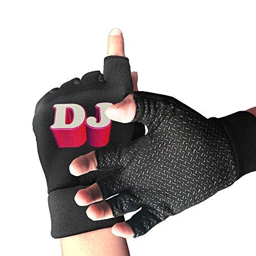 Addressverb Biking Half Finger Gloves DJ Words Design Unisex Anti-slip Shock-absorbing Foam Padded Gel Pad Gym Boxing Sports -