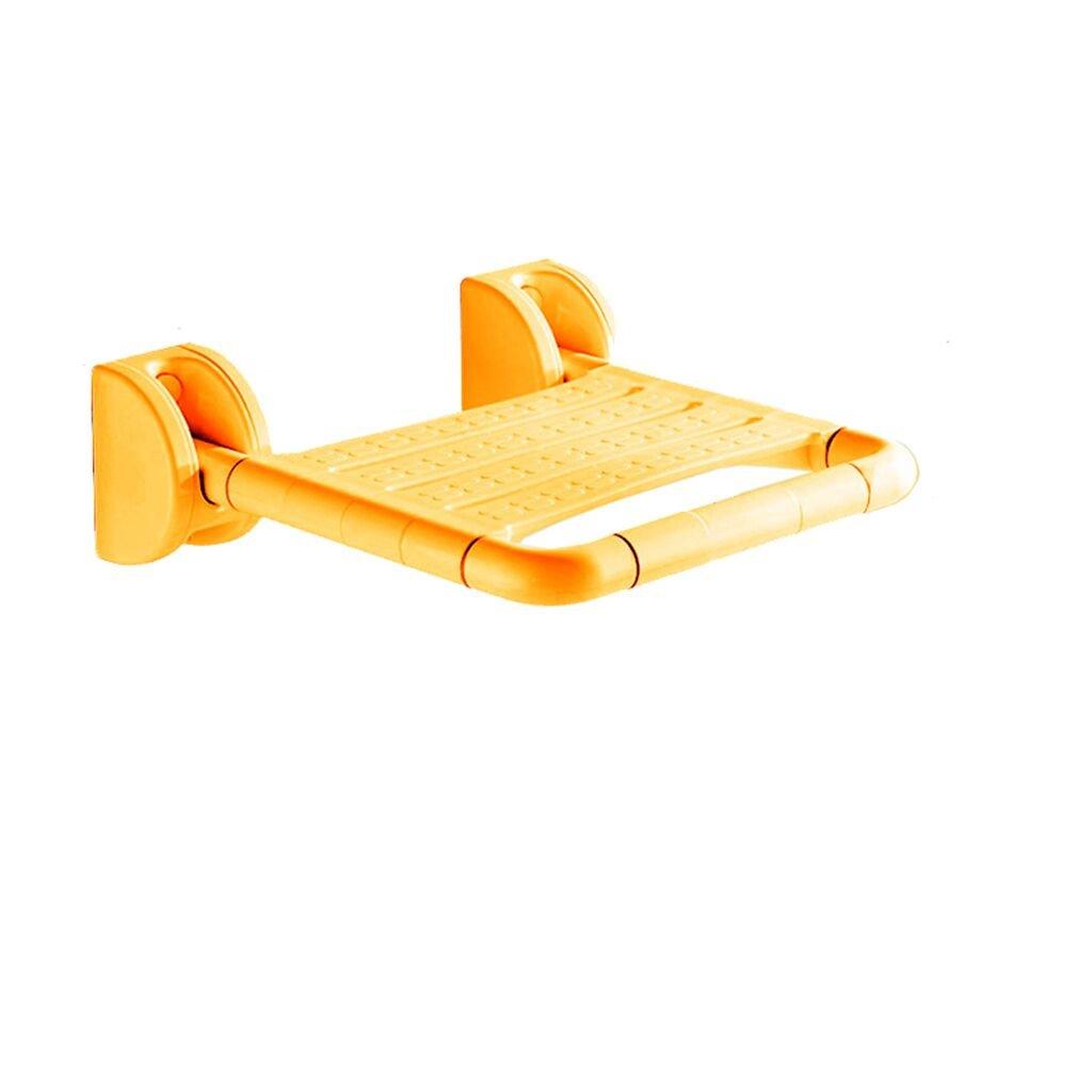 バスルーム折りたたみ式壁掛けシャワースツール障害高齢者セーフティーノンスリップバスルームトイレUpturned Chair (色 : イエロー いえろ゜, サイズ さいず : A) B07DFFVNB5 A イエロー いえろ゜ イエロー いえろ゜ A