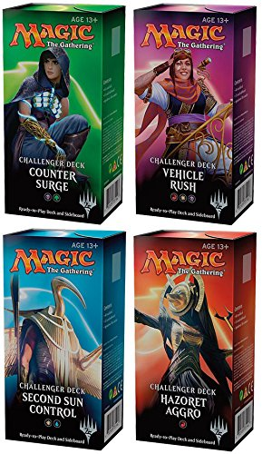 ALL 4 MTG Magic Challenger Decks: Hazoret Aggro Vehicle Rush Control Counter ()