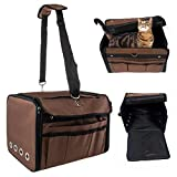 Petrum Collapsible Folding Soft Portable Pet Crate Carrier - Coffee