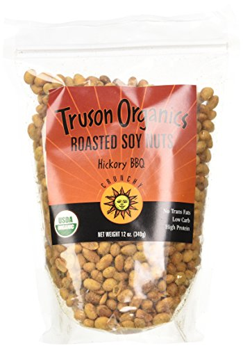 Truson Organics Dry Roasted Soy Nuts, Hickory-Barbecue, 12-Ounce Resealable Bags (Pack of 12) by Truson Organics