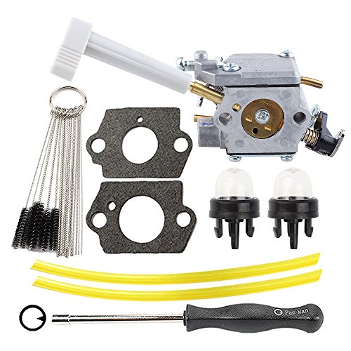 Hilom 308054079 Carburetor with Carb Adjusting Tool Clearing Tool Fuel Line for Ryobi RY08420 RY08420A Backpack Blower by Hilom