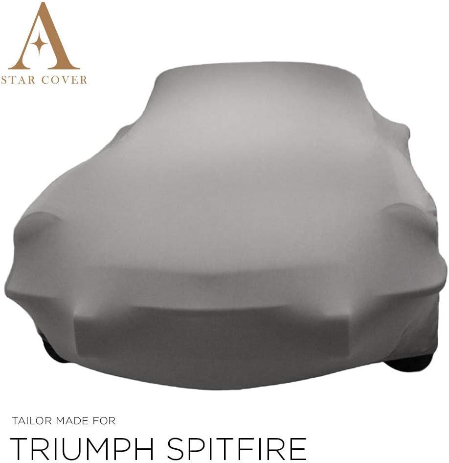 Telo COPRIAUTO da Interno su Misura per Triumph Spitfire Grigio GARAGECOVER vestibilit/à Perfetta E Cover su Misura Consegna Rapida